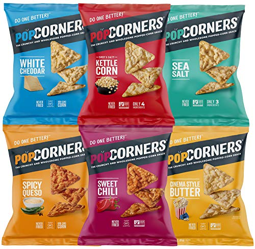 (Snack Chest Popcorners Mixed Premium Variety Sampler Package, Many Different Flavors, 1 Ounce Bags (12 Count))