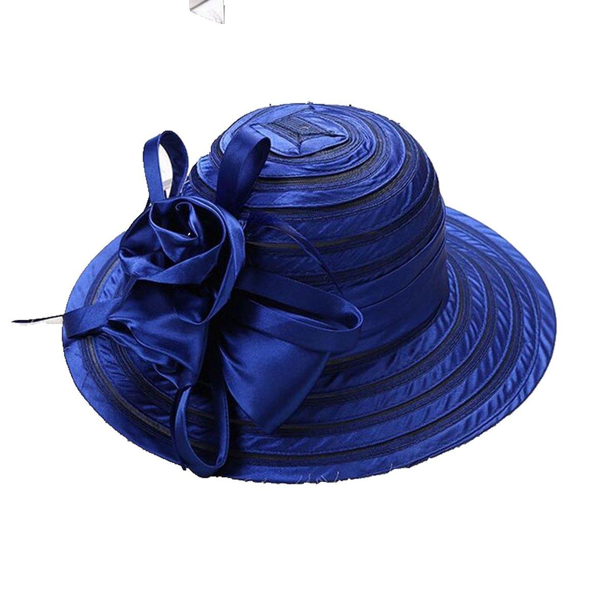 Sun Hat Wide Brim UV Protection Beach Party Wedding Kentucky Derby Church Hat