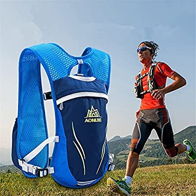 AONIJIE Unisex 5.5L Running Race Hidratación Chaleco Hidratación Pack Mochila