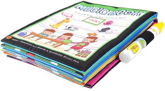 Imagen deJuguete del bebé, RETUROM Nuevo dibujo de agua de dibujo para colorear libro para pintar los animales para niños niños juguete