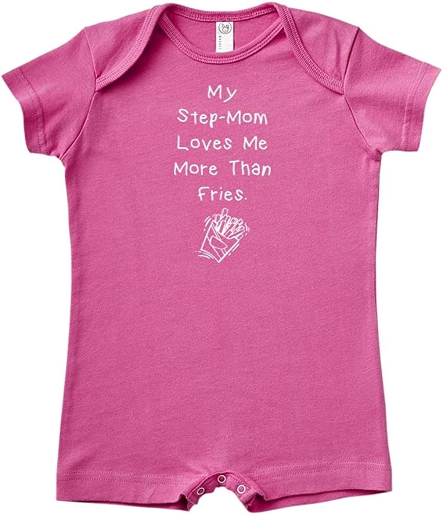 inktastic Cute Bigfoot My Step Mom Loves Me Baby T-Shirt