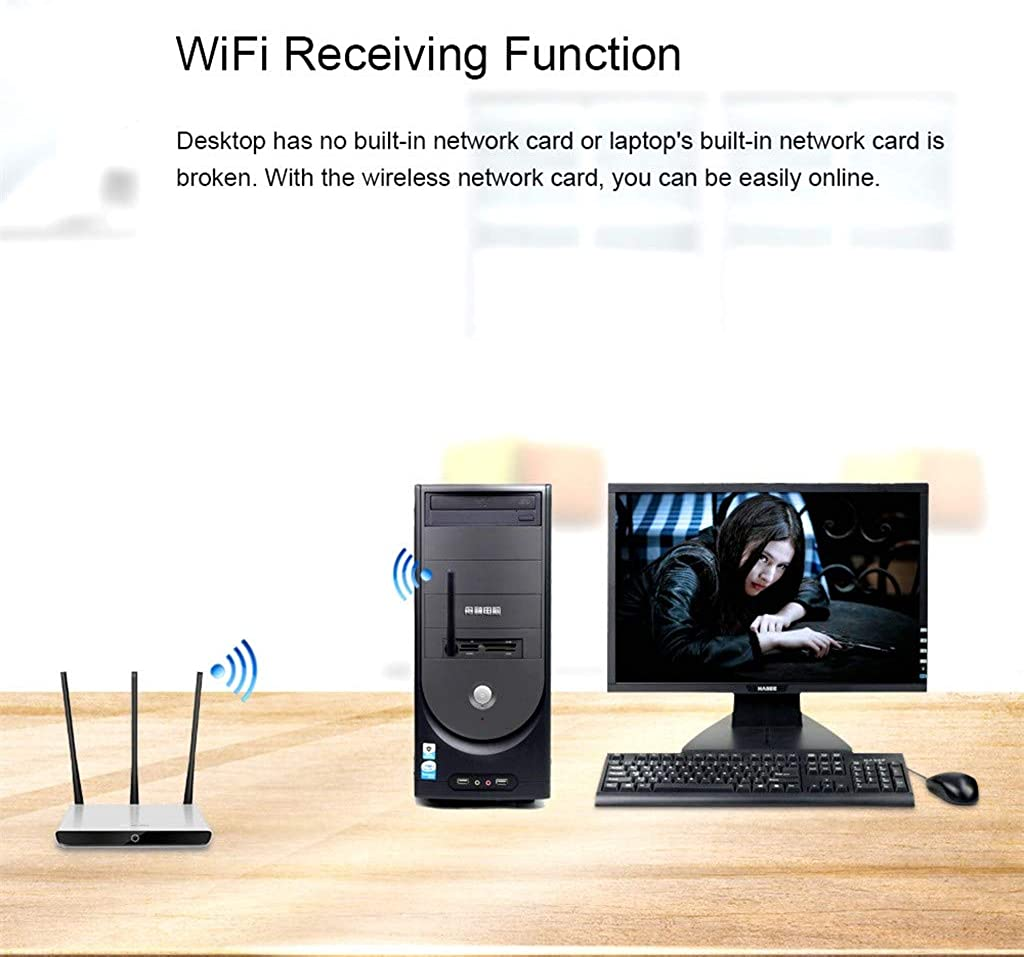 Vansee Wireless USB Adapter 150 Mbps Wireless USB WiFi Adapter 2.4Ghz WiFi Network Card USB WiFi Receivers
