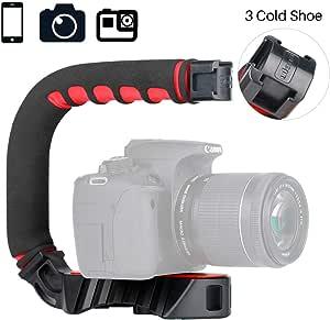 Pro Video Stabilizing Handle Grip for Olympus C-720 UZ Vertical Shoe Mount Stabilizer Handle