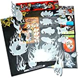 genuine SCHNEIDMEISTER® Airbrush EZ -Flames vol.01 (Size -SMALL-), HQ Set of 14 laser cut Stencils Templates for making real true and realistic Flames and Fire