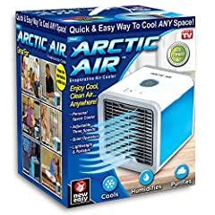 Enjoy Cool, Clean Air…Anywhere! Introducing Arctic Air: The powerful, compact personal air cooler that pulls warm air from the room through its evaporative water filter to fill any space with cool, clean comfortable air! Arctic Air cools, hum...