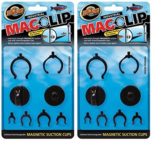 (Zoo Med (2 Pack) MagClip Magnetic Suction Cups)