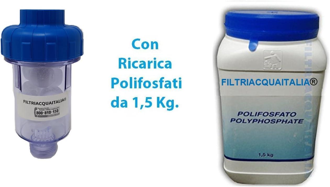 Filtro antical para lavadora con 10 recargas de polifosfato de 1,5 ...