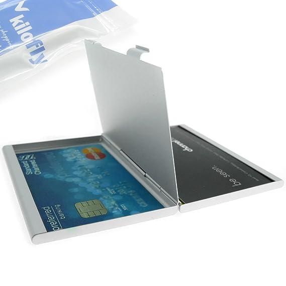Kilofly Visitenkartenhalter Silber Amazon De Bürobedarf