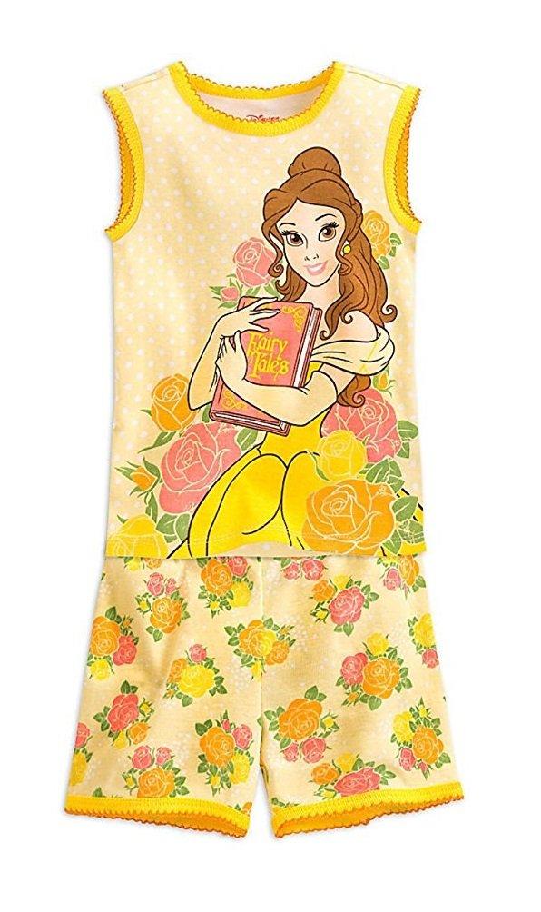 Disney Belle PJ PALS Pajamas Short Set for Girls (6)