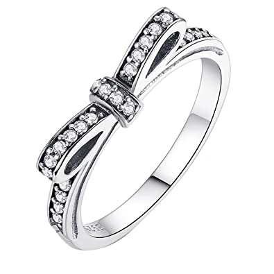 0c9ab693a Bow Ring 925 Sterling Silver: Amazon.co.uk: Jewellery