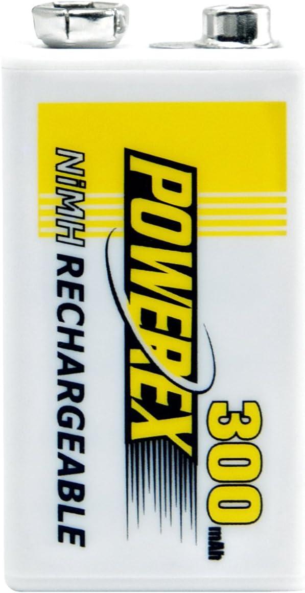 Powerex MHR84V Powerex 9V 300mAh 1-Pack Rechargeable Battery