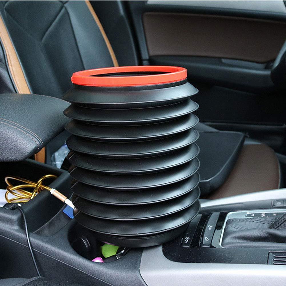 JiuRong 4L Auto Faltbare Teleskop Eimer Auto Ablagekorb Mini M/ülleimer