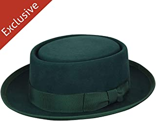 product image for Hats.com Danger Pork Pie - Exclusive Dark Green, Medium
