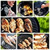 Charcoal Grill 17in with Steel Cooking Grate for Home Garden Barbecue Tool Sets Outdoor Smokers BBQ grilling charcoal Round Portable Charcoal Kettle Grills for Backyard Tailgate Party Camping