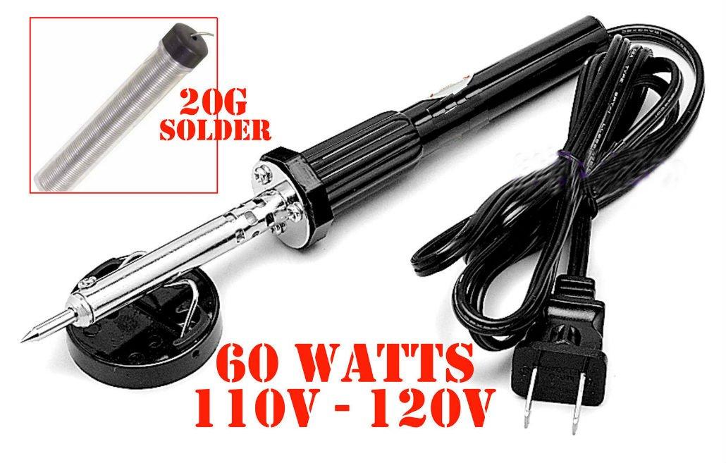 New 60W IRON SOLDERING GUN Electric Welding Solder 110V-120V Home Shop Gun