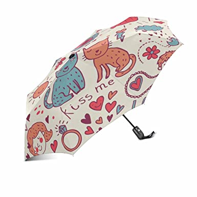 Cat umbrella cartoon unique foldable