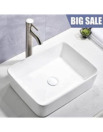 5a288ca332a Comllen Counter White Porcelain Ceramic Bathroom Vessel Sink Art Basin