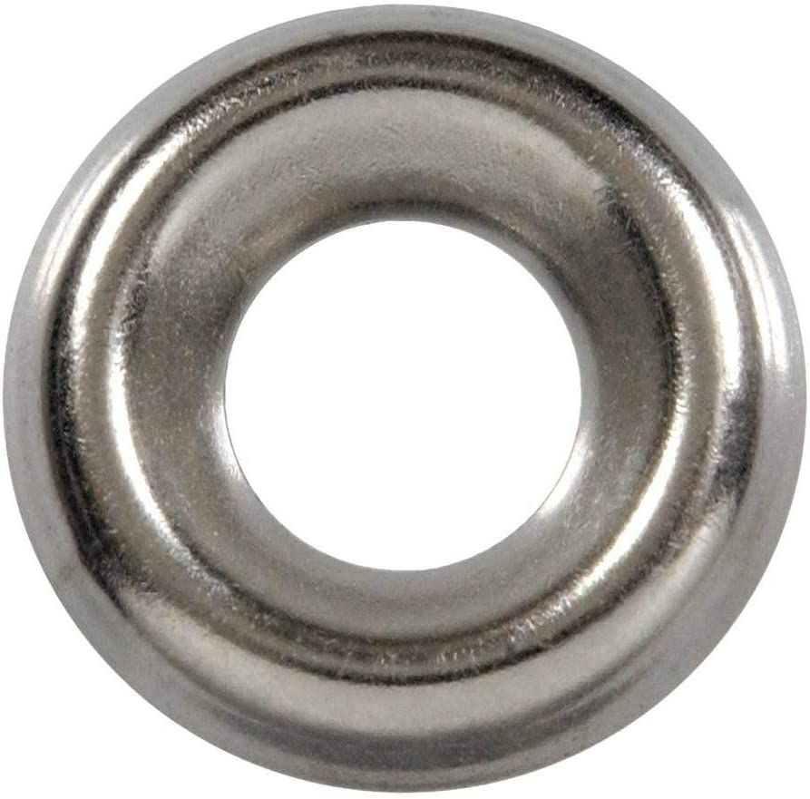 SNUG Fasteners (SNG574) 100 Qty #8 Stainless Steel Countersunk Washers | 304 SS Finishing Cup
