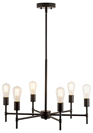 bella pendant light with led edison bulbs included bronze stem hung chandelier fixture with - Edison Bulb Pendant