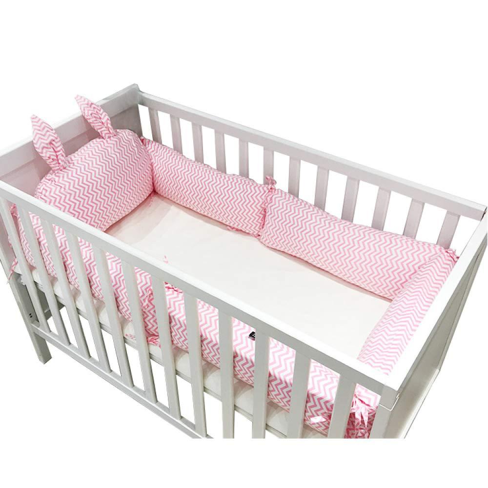 TEALP Baby Cot Bumper Cot Bed 4 Piece Wrap Around Protection Safe Crib Bumper-Grey Elephant 3605cm x 25cm