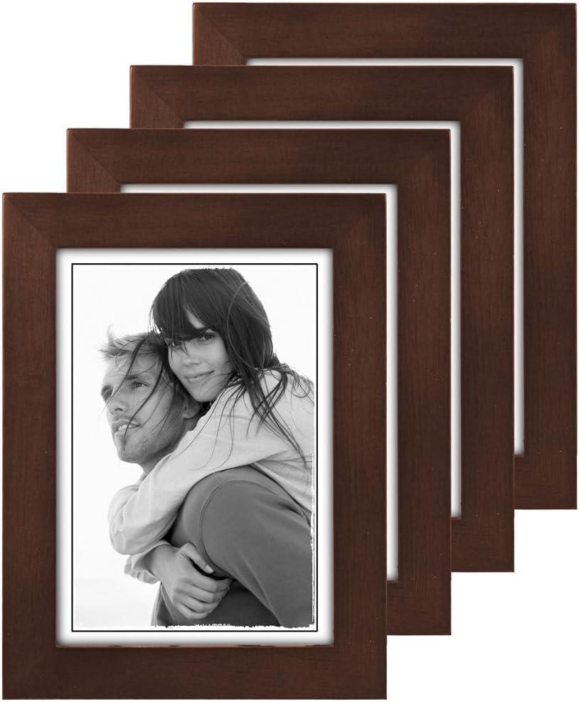 Black Split Double Malden International Designs Linear Wood Picture Frame 2.5 by 3.5-inch