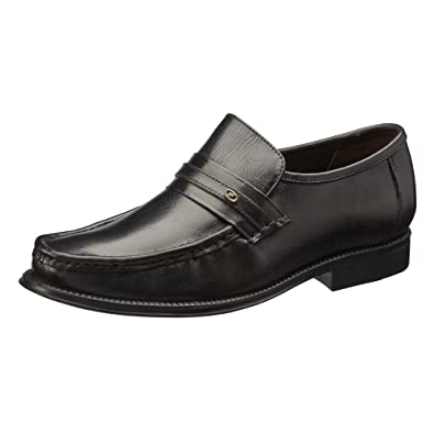 cd72ff3f15d3 Clifford James Casual Slip-on Men's Real Leather Loafer Shoes. (6, Black