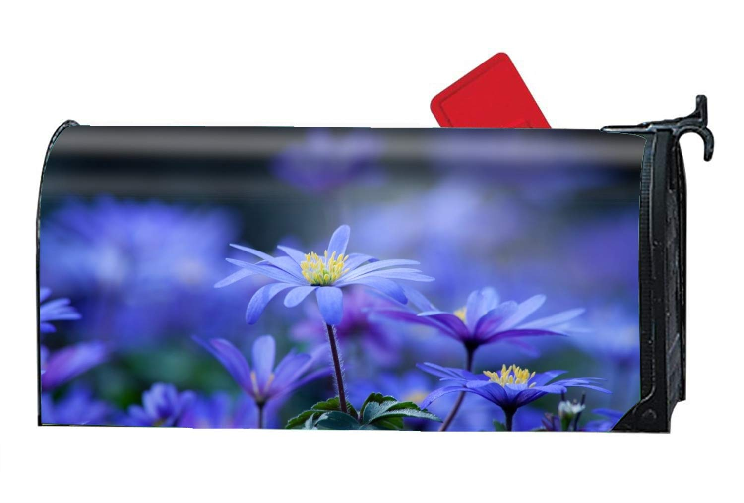 Niaocpwy Earth Flowers Mailbox Cover - Mailbox Makeover - Magnetic Cover 9'' W x 21'' L