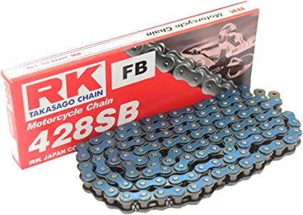 R/&K RK Standardkette 428 SB//134 Kette offen mit Clipschloss blau