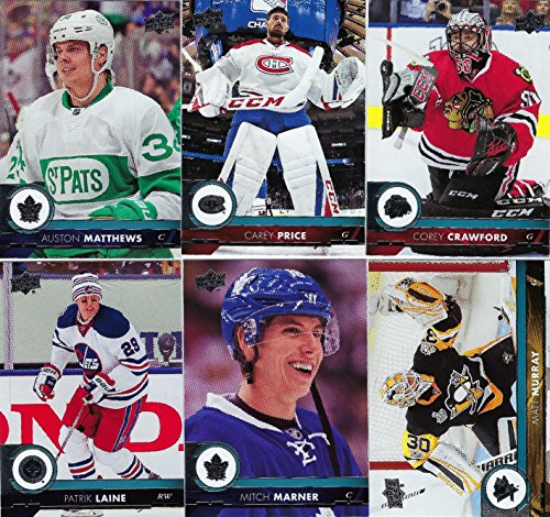 2017 2018 Upper Deck NHL Hockey Series One Complete Mint Basic Hand Collated 200 Card Veteran Players Set Including Auston Matthews Sidney Crosby and More