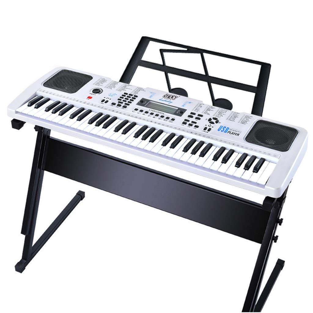 ベストチョイス 子供のキーボードLCDビデオ大人61初心者紹介ピアノ多機能教育電子ピアノ白 ( Color : 白 )B07GLMYFDX