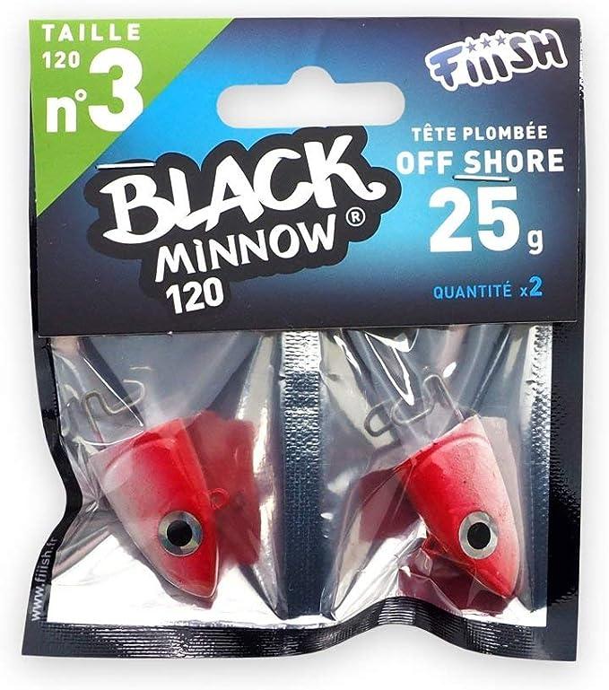 Black Minnow Fiiish Lures Cabezas Jig BM120 - Cabeza Plomada para ...