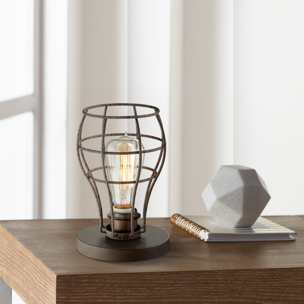 Oldham industrial uplight 9 1 2h edison bulb table lamp amazon com