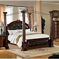 Furniture of America Majestin Poster Canopy Bed, California King