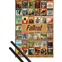 Poster + Hanger: Fallout Poster (36x24 inches) 4, Magazine Compilation And 1 Set Of Black 1art1® Poster Hangers