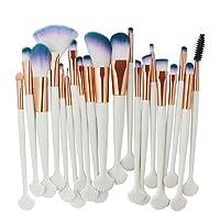 Brosse de maquillage de Shell ensemble complet, Keepwin 20pc maquillage cosmétique brosse Blusher Eye Shadow brosses ensemble