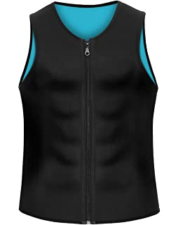 a47472e4fe804b Men Waist Trainer Vest Weightloss Hot Neoprene Corset Compression Sweat  Body Shaper Slimming Sauna Tank Top