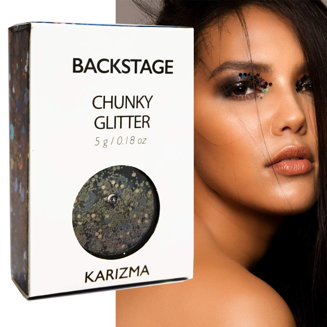 Backstage Chunky Glitter ✮ KARIZMA BEAUTY ✮ Festival Glitter Cosmetic Face Body Hair Nails