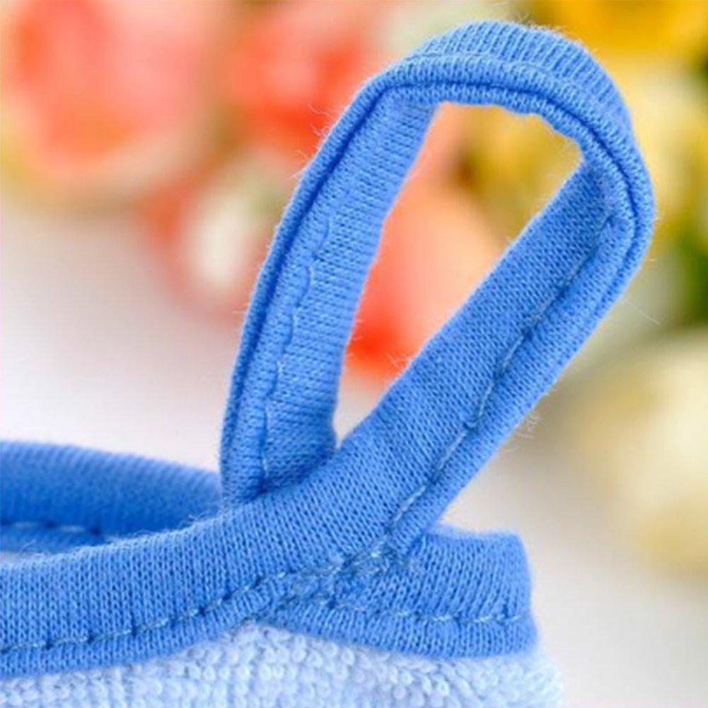 Beb/é ba/ño guante Espuma esponja ducha cepillo modelado Animal frotar toalla bola para beb/é ni/ños lavado exfoliante azul