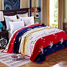 """Bedding Extra Soft Coral Fleece Blanket Lightweight Thickening Throw/Bed Blanket Color Blanket Crown Full(71""""X79"""")"""