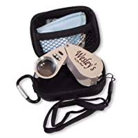 40X Jewelers Loupe Magnifier Hand Lens LED/UV Illuminated, Jewelry Magnifying Glass with Travel Case for Gardening, Kids, Coin, Stamp and Rock Collecting by Wesley's as you wish