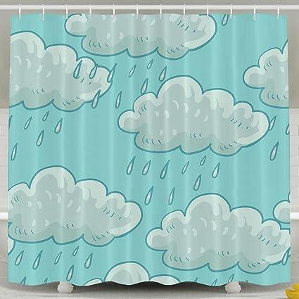 MI Too Clouds Shower Curtain 60x72 Inch