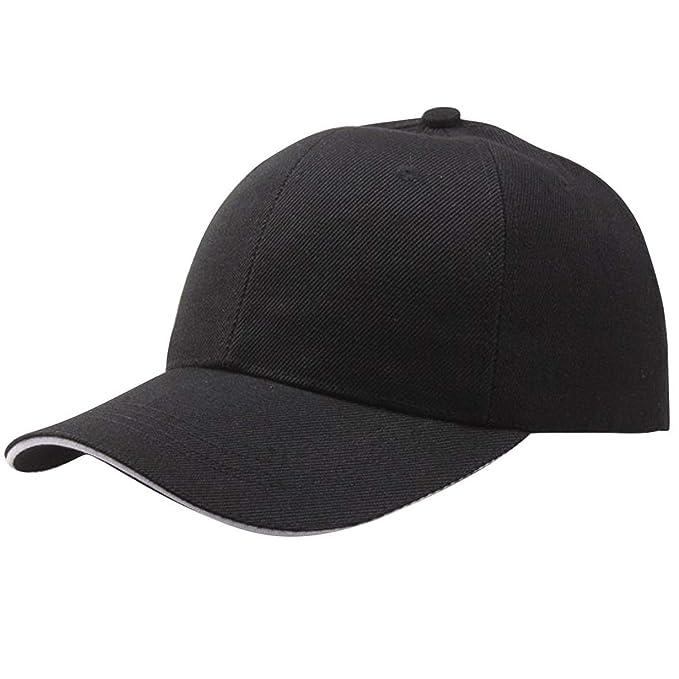 Meaningg Gorra de béisbol Gorras de Malla Sombreros para Hombres Mujeres Dad Casquette Solid Gorras Hombre Sombreros Classic Hip Hop Gorras B0520,Black ...
