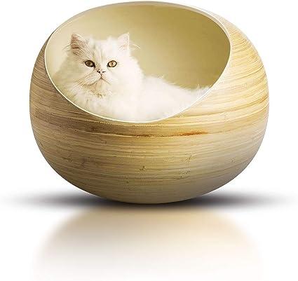 Amazon.com: Fhasso - Cama para gato de bambú de lujo ...