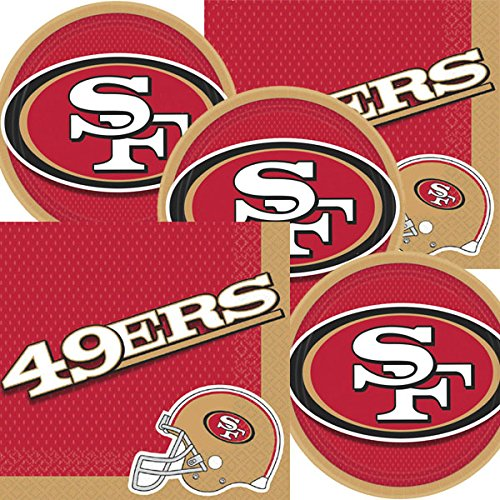 San Francisco 49ers NFL Football Team Logo Plates And Napkins Serves 16]()