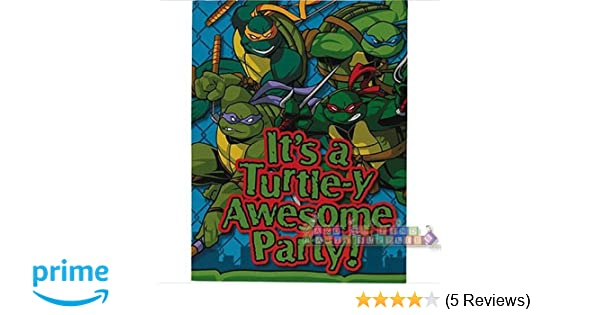 TMNT Teenage Mutant Ninja Turtles Party Invitations (8)