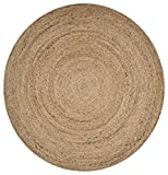 LR Resources NATUR50136NAT40RD Jute Rug Indoor Area, 4' x 4' Round, Natural