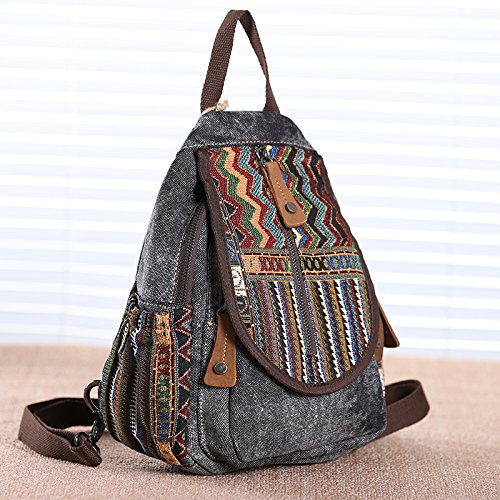con Girl para Ligera para Carved Bordado Pecho Retro Gold Black para BISSER Oxford Mini Bolsa de niñas de Hombro Uso pequeña Bolsa de Mujer Nailon Mochila Leather stitch Bolsa de cross black Bolsa Doble Orange r1x0XAwrRq