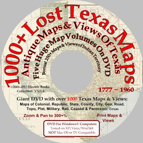 1000+ Lost Antique Maps of Texas & the Southwest on DVDROM (Antique Maps of Texas) Butterfield Station