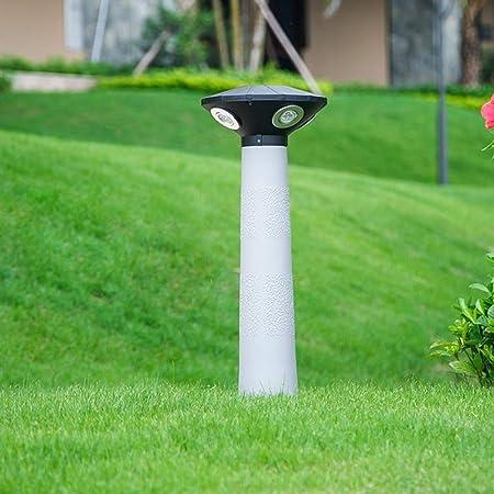 DLINMEI Luces de Poste LED Luz de área Circular Moderna Luz de Calle de jardín Soporte