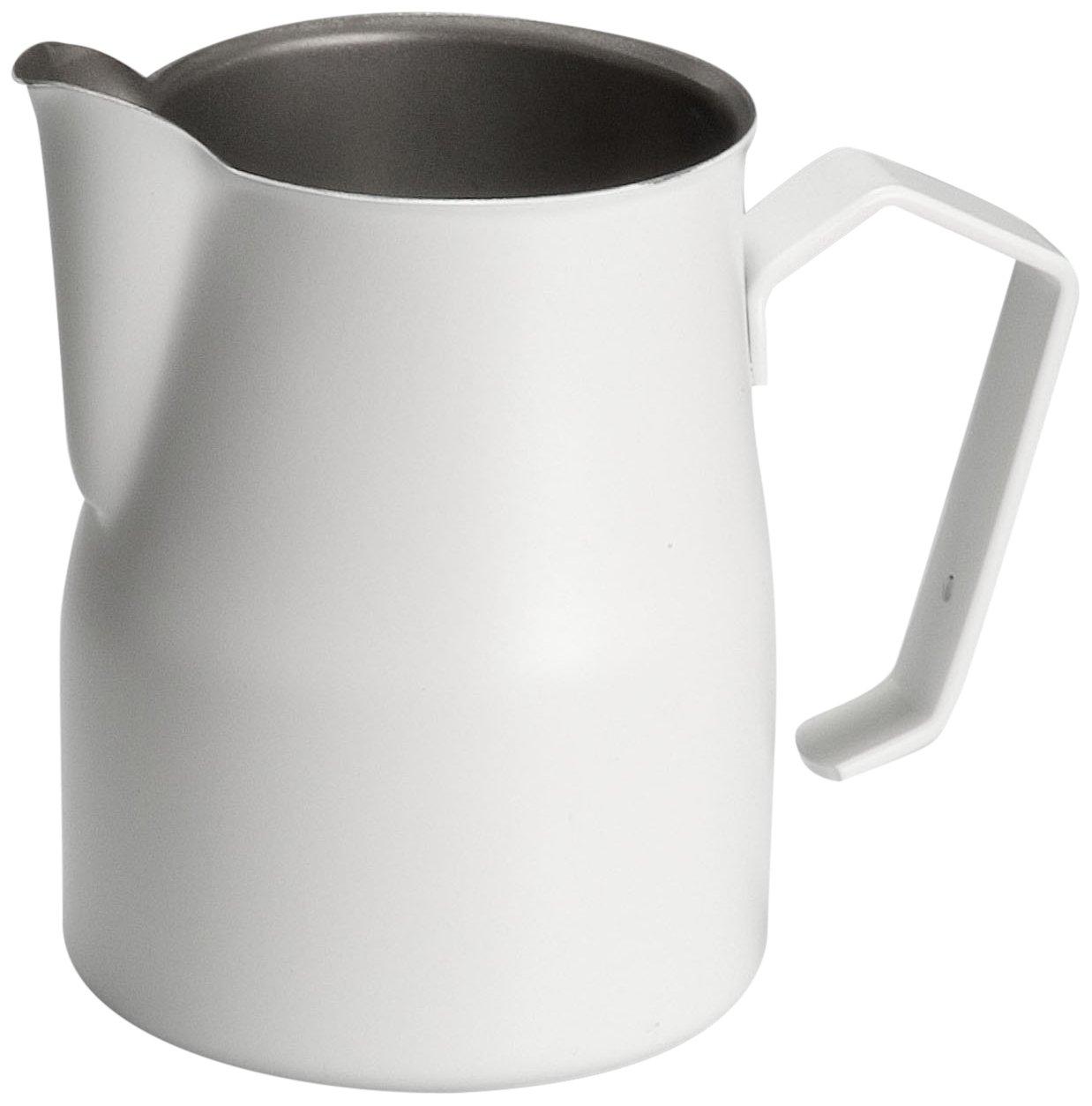 Motta Stainless Steel Professional Milk Pitcher/Jugs, 11.8 Fluid Ounce, White by Metallurgica Motta
